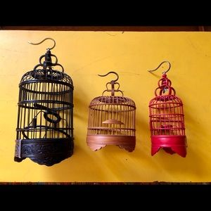 Three Vintage Decorative Birdcages.